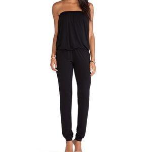 YFB Black Dakota Strapless Jumpsuit
